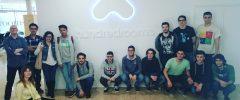 13 jóvenes de Grado universitario en Ingeniería Informática de la UIB visitan Hundredrooms