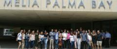 25 joves UIB – Doble titulació: Grau d'Administració d'Empreses i Grau de Turisme visiten l'hotel Melià Palma Bay – Palau de Congressos
