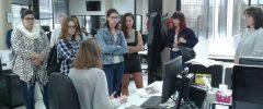 7 joves del Grau de Filosofia de la Facultat de Filosofia i Lletres UIB han visitat l'empresa Diario de Mallorca.