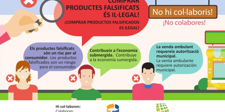 El Ayuntamiento reedita un folleto que apoya el comercio local y lucha contra la venta de productos falsificados