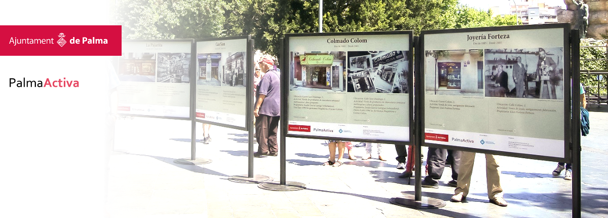 Exposición itinerante de establecimientos emblemáticos de Palma