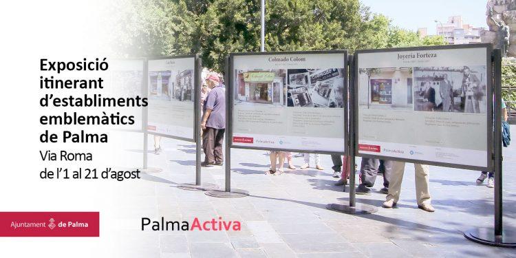 L'exposició fotogràfica d'establiments emblemàtics de Palma es trasllada a Via Roma