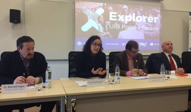 Presentació del programa de foment de l'emprenedoria Explorer 'Joves amb Idees', que promouen PalmaActiva, UIB i Banco Santander