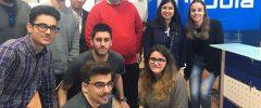6 joves del Grau d'Informàtica/Telemàtica de l'Escola Politècnica Superior (UIB) visiten l'empresa Brújula