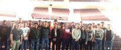 20 alumnes + 1 docent del Grau d'Enginyeria Electrònica Industrial i Automàtica (UIB) visiten el Palau de Congressos de Palma