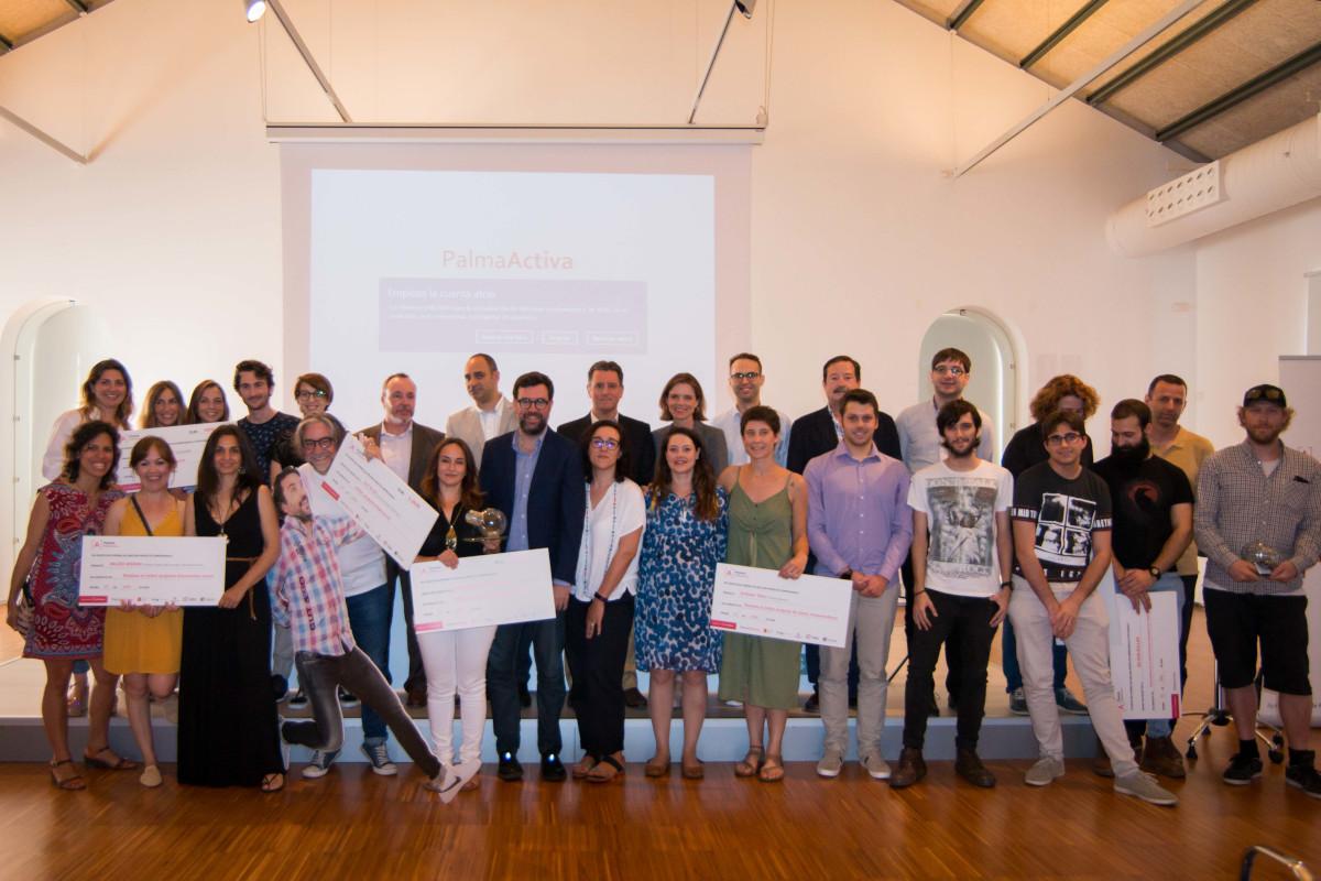 Foto de família dels Premis PalmaActiva