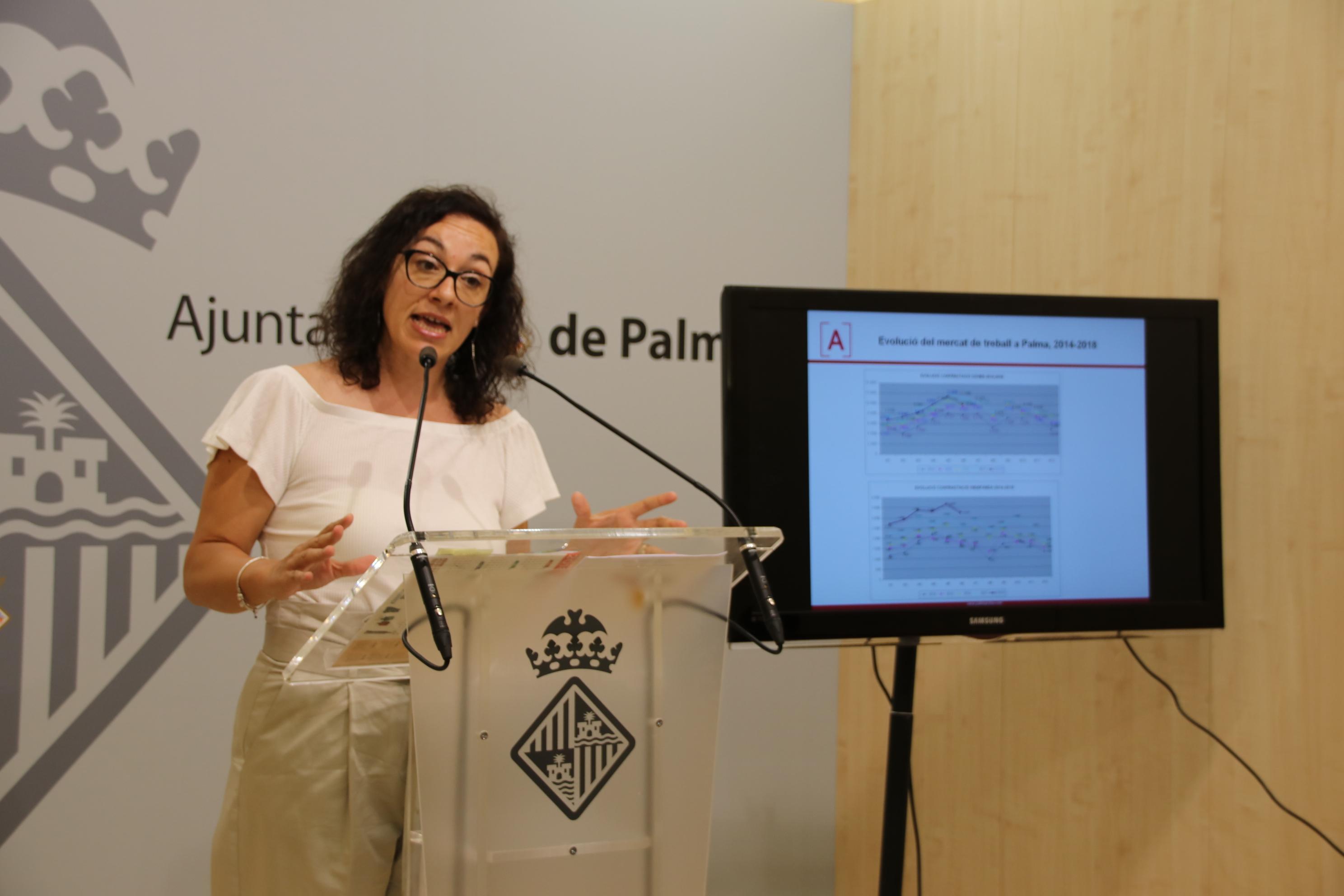 Continua l'evolució positiva del Mercat de Treball a Palma, tant a l'increment d'ocupació com al descens de l'atur
