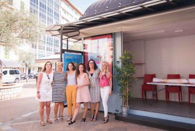 Ocho mujeres emprendedoras en el Quiosco de PalmaActiva