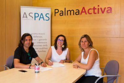 Protocolo de colaboración entre PalmaActiva y Fundación ASPAS