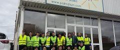 15 jóvenes del CFGM Electricitat de IES Son Pacs visitan la empresa Palmallum
