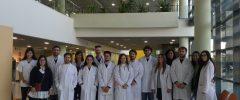 Visita 14/01/2020 a Son Espases. CFGS Laboratoris clínics i Biomèdics del CC La Salle (8 alumnos + 2 profesores) y 2 jóvenes titulados en Bioquímica de la UIB.