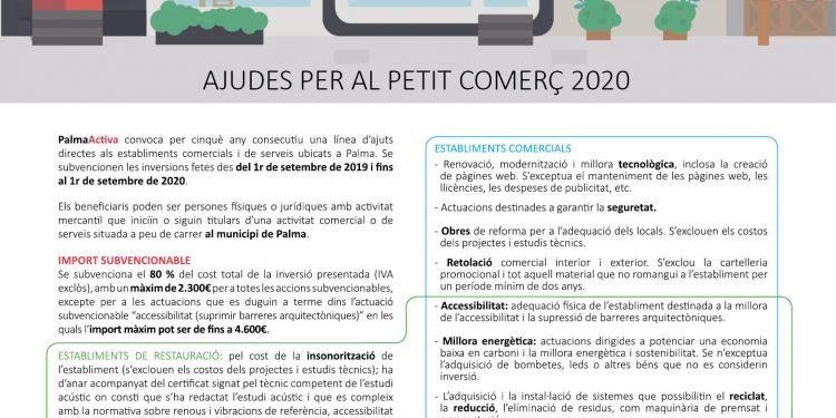 PalmaActiva amplía el plazo para pedir sus subvenciones de comercio hasta el 30 de junio