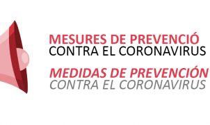 Medidas de prevención contra el Coronavirus en PalmaActiva