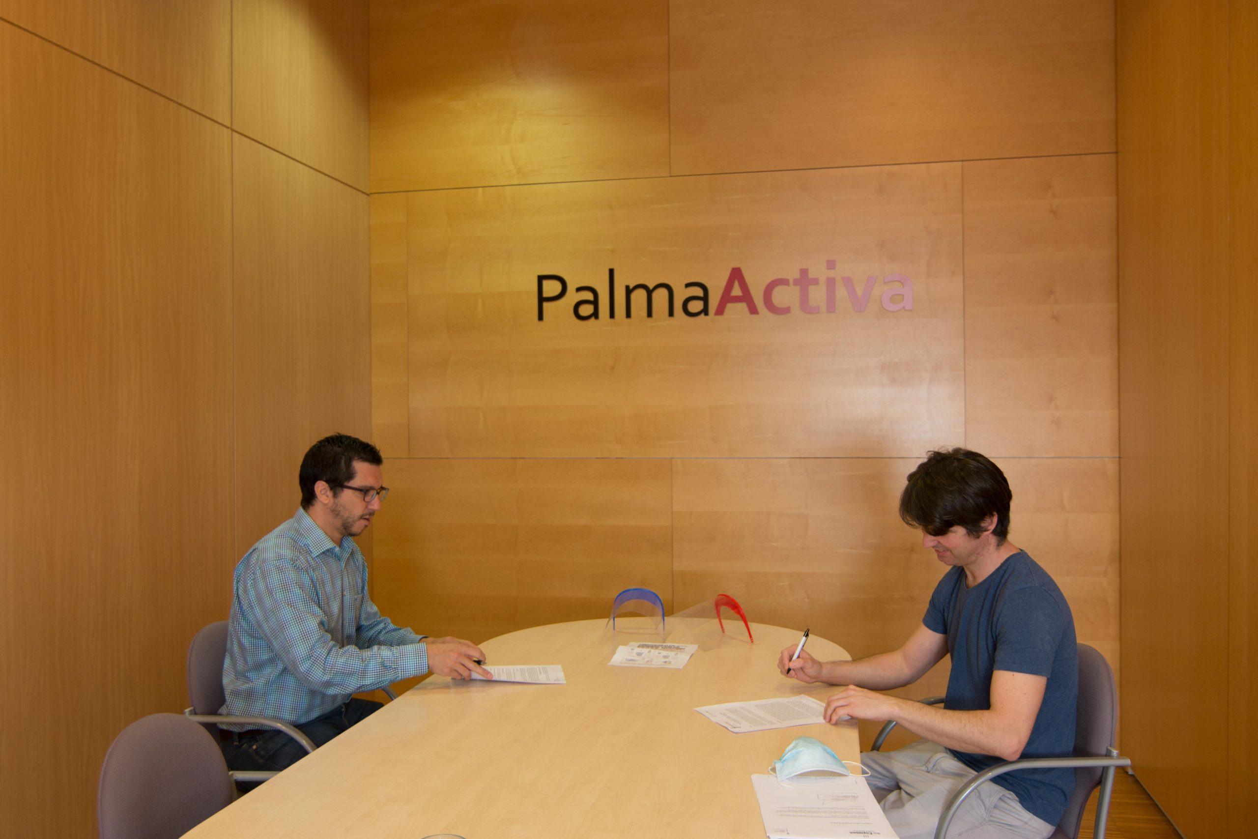 PalmaActiva repartirà entre comerços, mercats i restauradors 1.500 pantalles facials protectores donades per Makers Mallorca