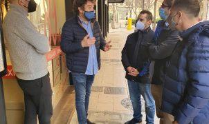 El concejal de Promoción Económica y Ocupación Rodrigo Romero visita zonas comerciales de Palma con AFEDECO