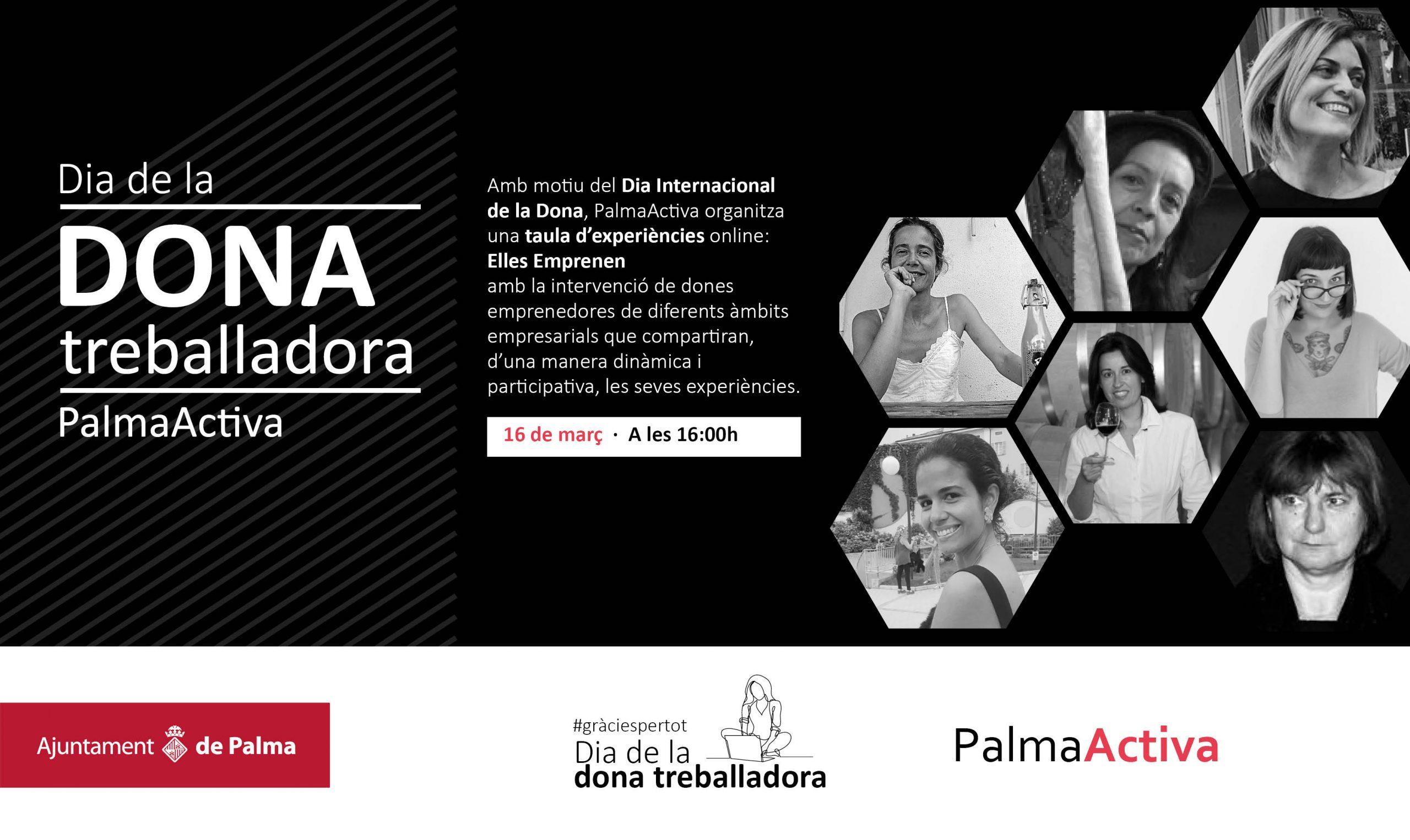 """PalmaActiva organitza la taula d'experiències """"Elles emprenen"""" amb motiu del Dia Internacional de la Dona"""