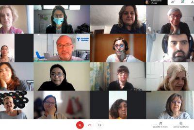 Videoconferència amb les participants de la Llançadora Connecta Ocupació de Palma