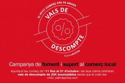 Dia 31 d'octubre finalitza el termini perquè els establiments comercials s'adhereixin a la campanya de vals de suport al comerç local